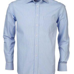 Nissan Blue White Men's Long Sleeve Shirt 2