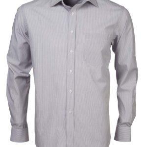 Nissan Blue White Men's Long Sleeve Shirt 3