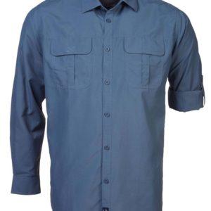 Nissan Blue White Men's Long Sleeve Shirt