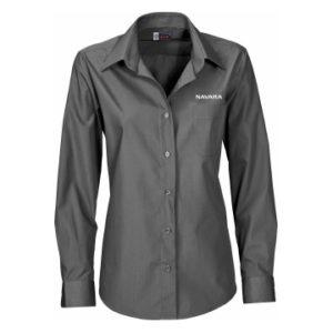 Nissan Navara Ladies Grey Long Sleeve Shirt