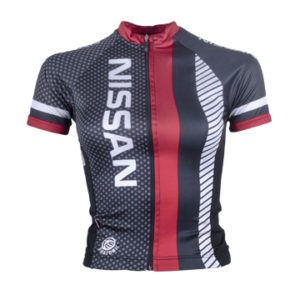 Nissan Ladies Performance SS Cycling Shirt Front View