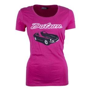 Datsun Ladies Retro Pink T Shirt